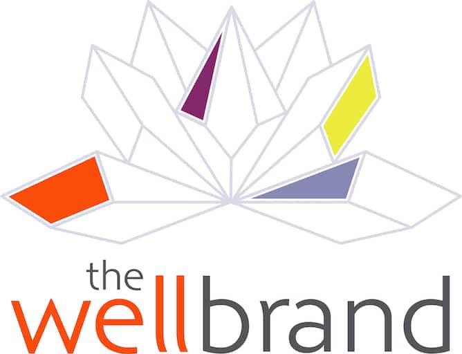 The WellBrand lotus logo