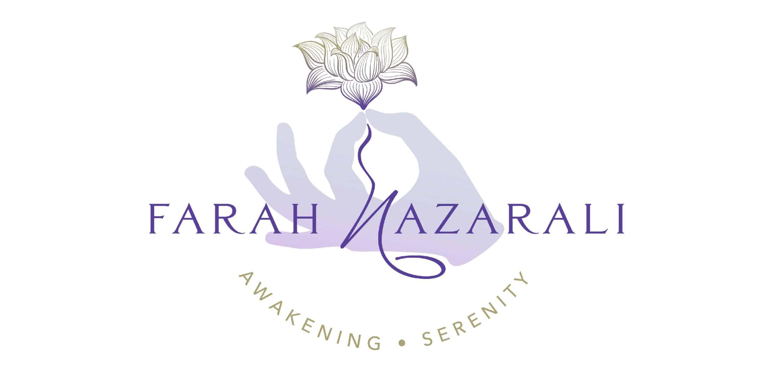 Farah Nazarali full logo - client project