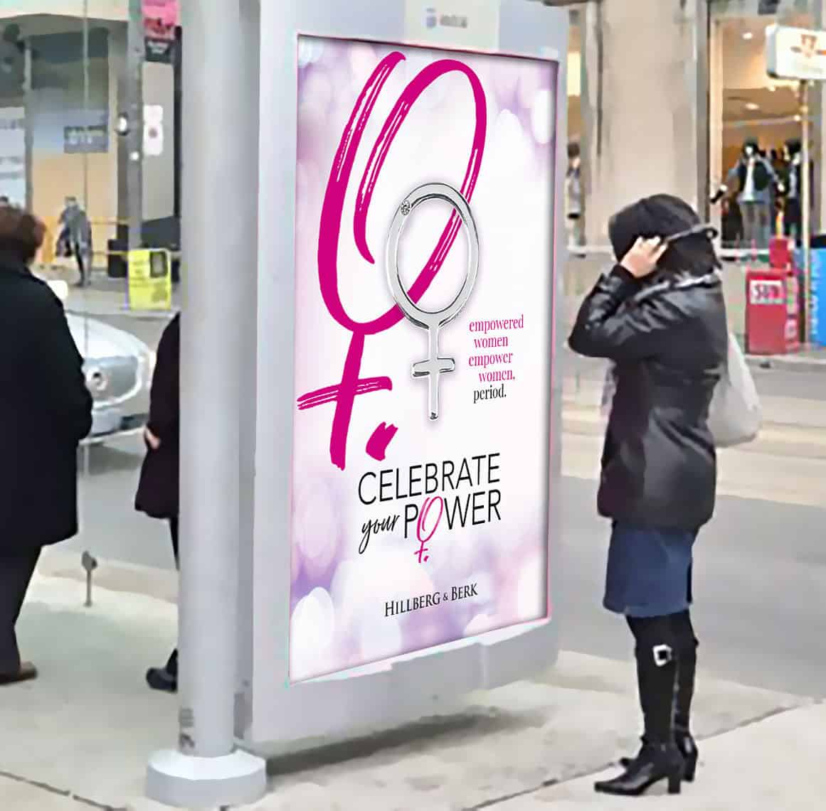 H&B IWD bus shelter poster