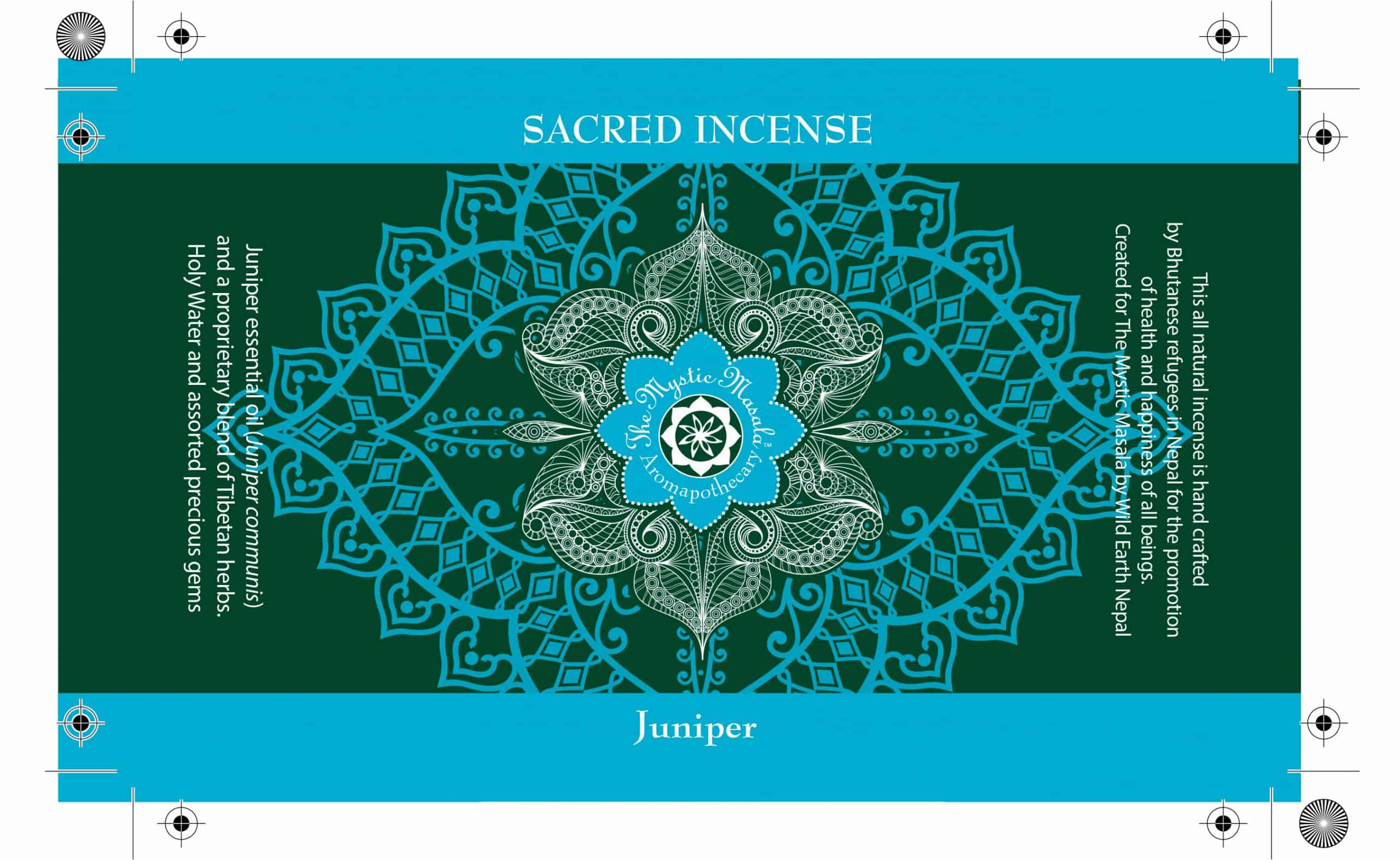 Mystic Masala incense label