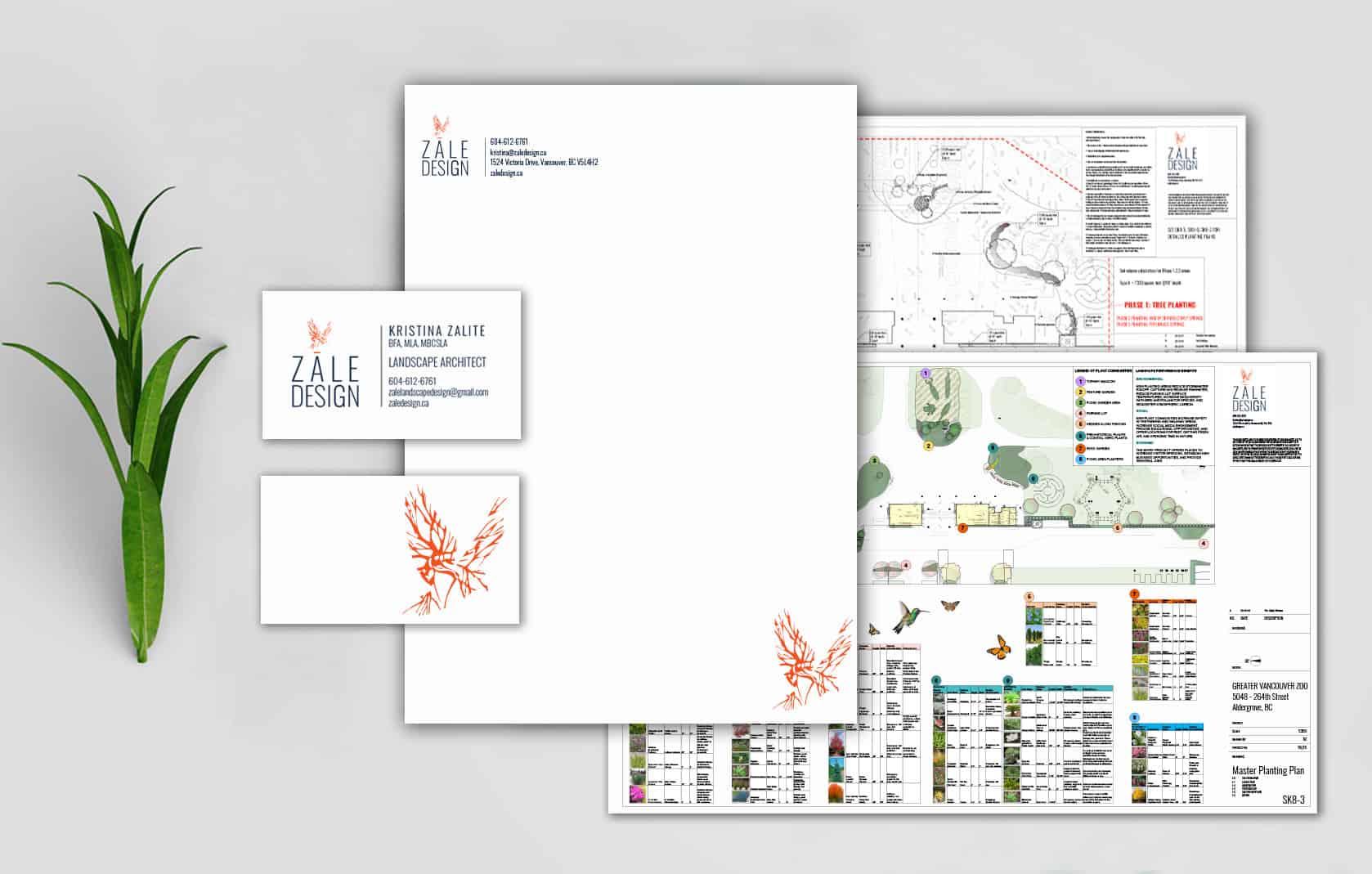 Zale Design stationery