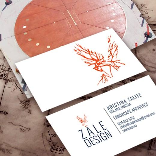 Zale Design - Landscape Architect - Branding, Website framework, business cards
