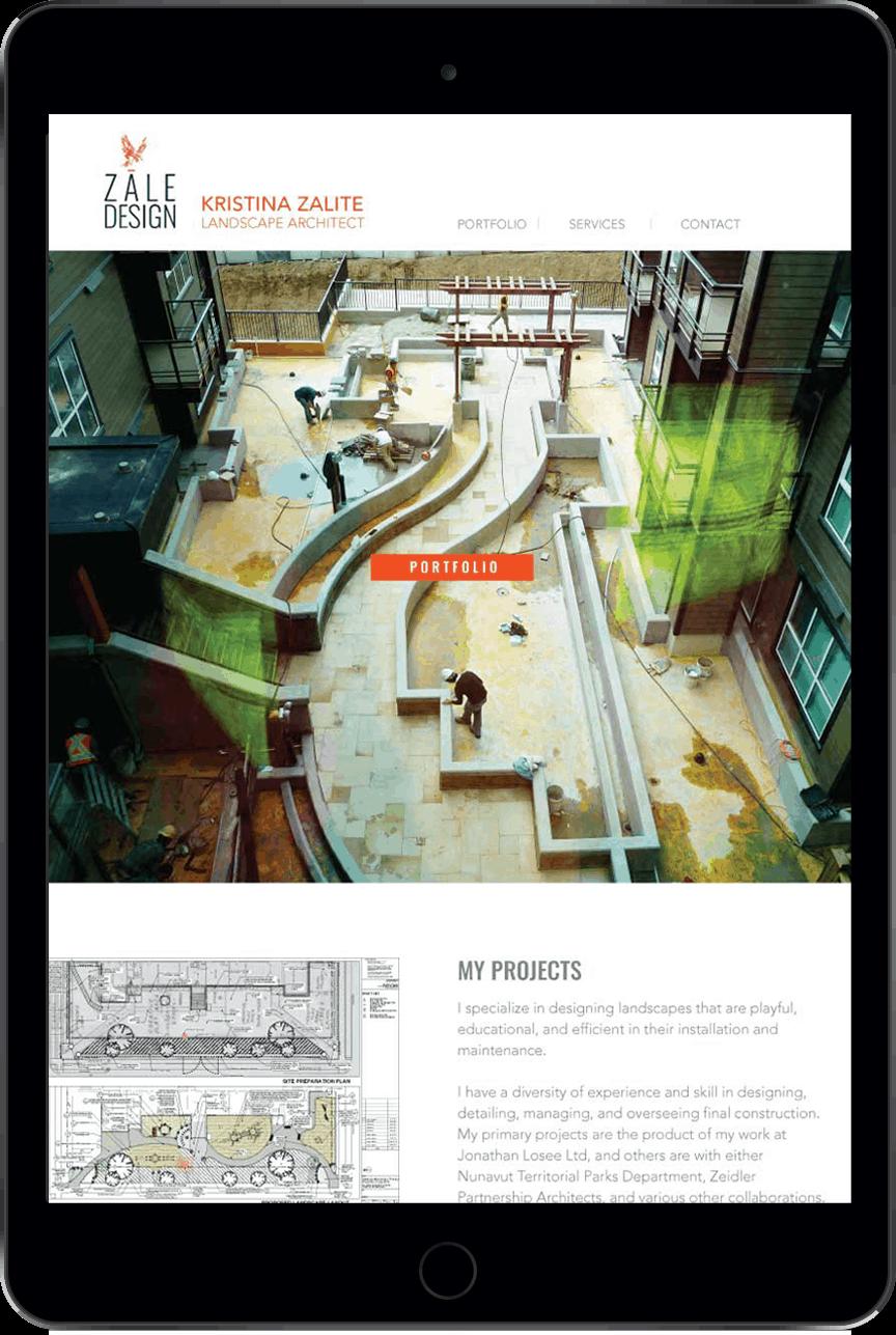 Zale Design landscape architecture project iPad