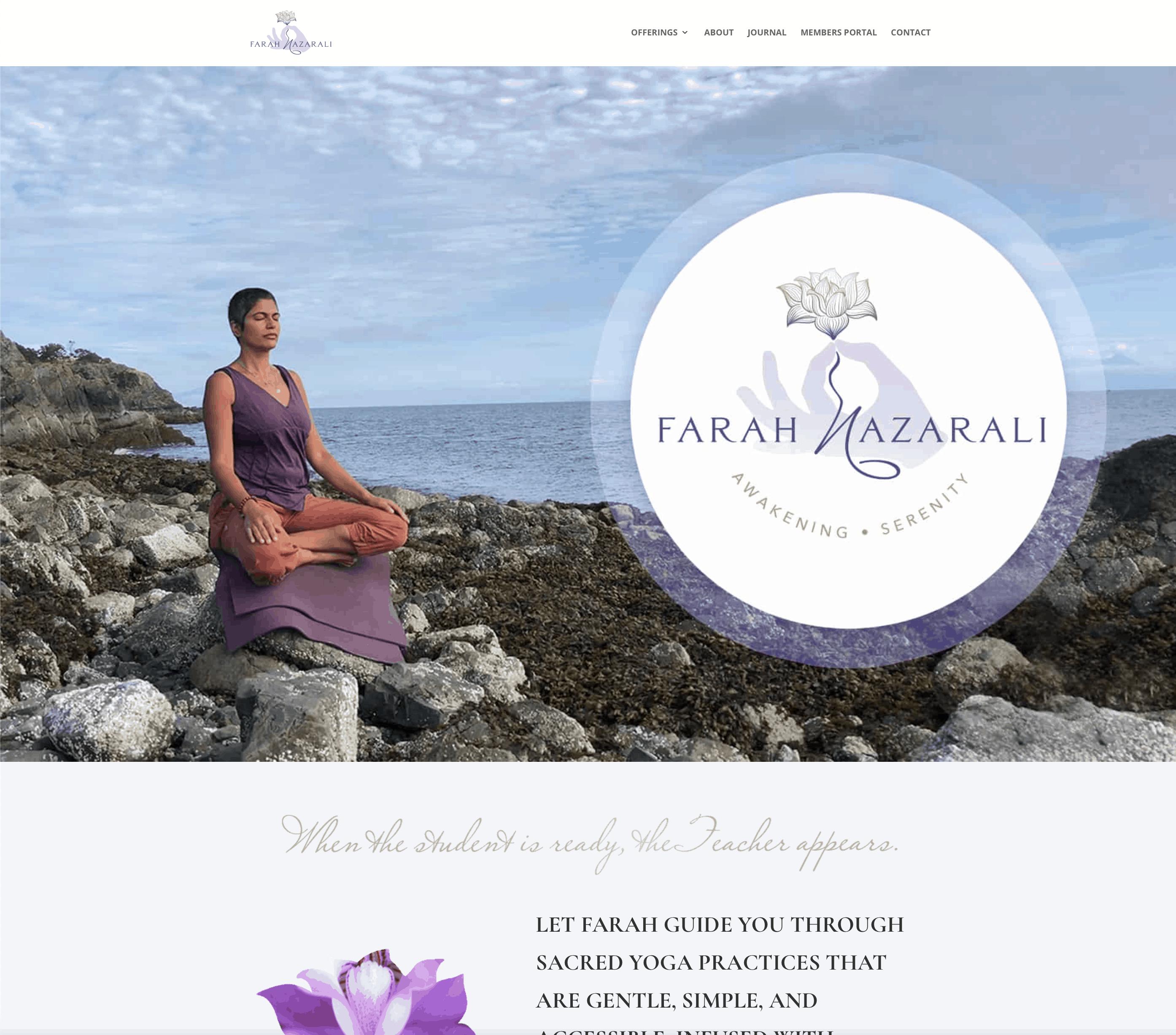 Farah Nazarali homepage
